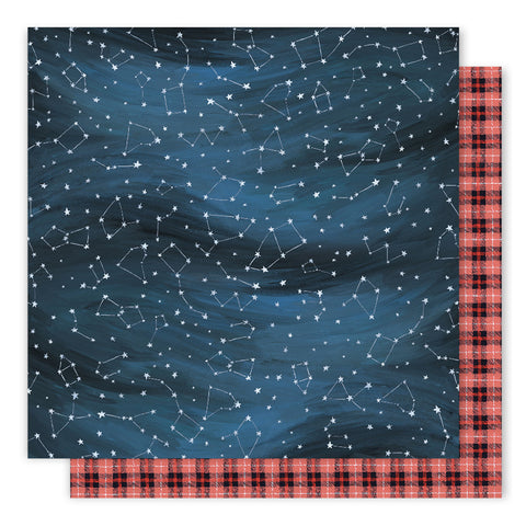 Night Sky 12x12 Pattern Paper - 1Canoe2- Creekside