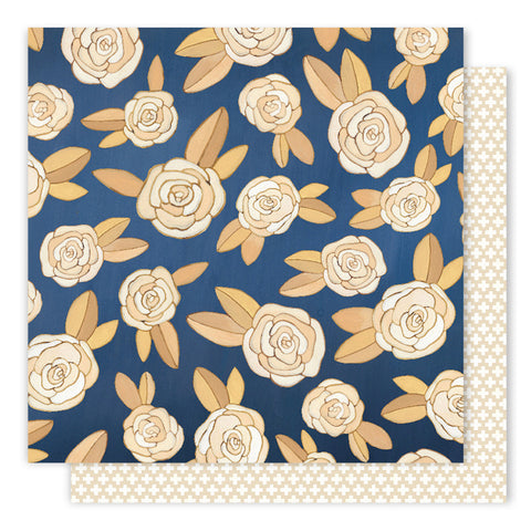 Midnight Roses 12x12 Pattern Paper - 1Canoe2 - Creekside