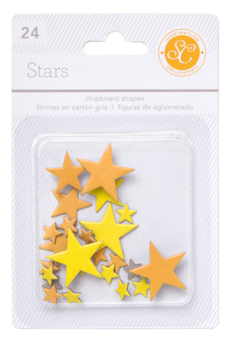 Studio Calico Essentials Chipboard Stars Yellow/Orange