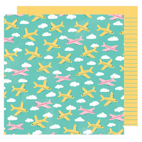 Go Places 12x12 Pattern Paper - Amy Tangerine - Hustle and Heart