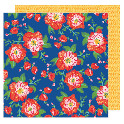 Coming Up Roses 12x12 Pattern Paper - Amy Tangerine - Hustle and Heart