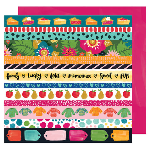 In a Row 12x12 Pattern Paper - Amy Tangerine - Hustle and Heart