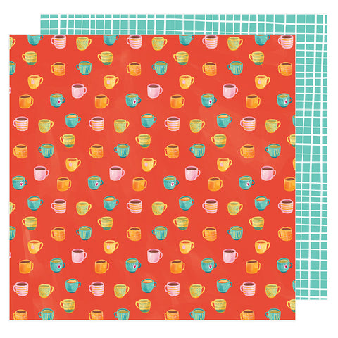 Rise and Shine 12x12 Pattern Paper - Amy Tangerine - Hustle and Heart