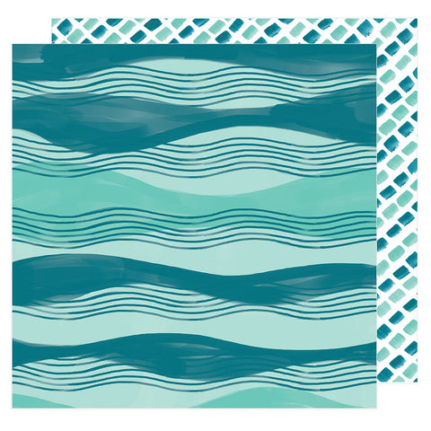 Across the Waves 12x12 Pattern Paper - Amy Tangerine - Hustle and Heart