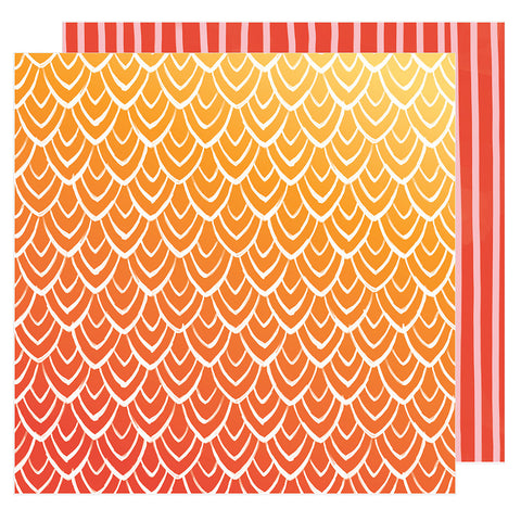 Hello Sunrise 12x12 Pattern Paper - Amy Tangerine - Hustle and Heart