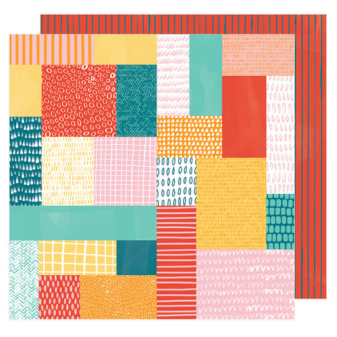 Patchwork Show 12x12 Pattern Paper - Amy Tangerine - Hustle and Heart