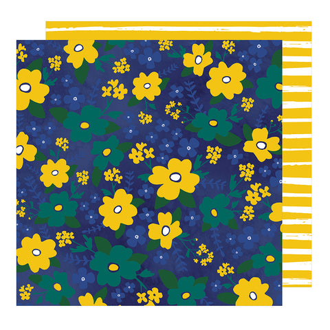Wildflowers 12x12 Pattern Paper - Dear Lizzy - Star Gazer