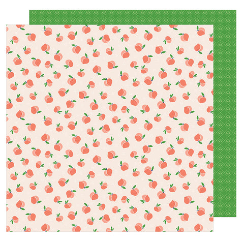 Just Peachy 12x12 Pattern Paper - Dear Lizzy - Star Gazer