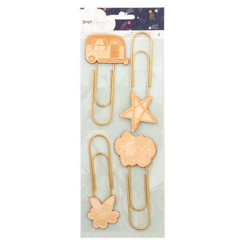 Wood Icon Paper Clips - Dear Lizzy - Star Gazer