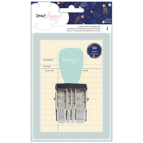 Stamp and Notepad Set - Dear Lizzy - Star Gazer