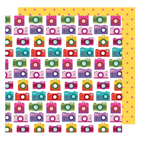 Snap To It 12x12 Pattern Paper - Shimelle - Glitter Girl