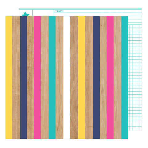Fall In Line 12x12 Pattern Paper - Shimelle - Glitter Girl