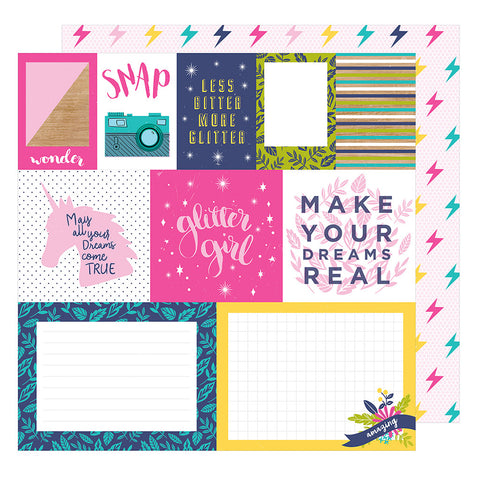 Mix and Match 12x12 Pattern Paper - Shimelle - Glitter Girl