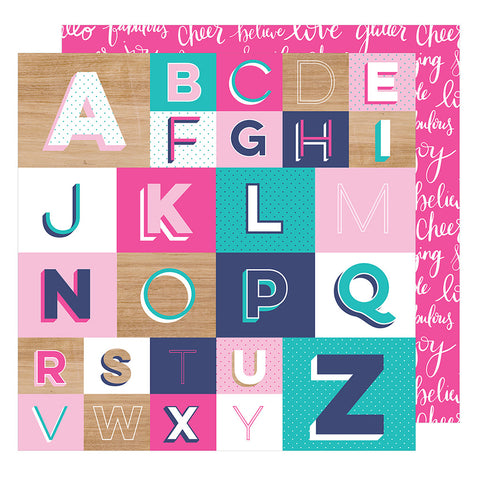 Spell It Out 12x12 Pattern Paper - Shimelle - Glitter Girl