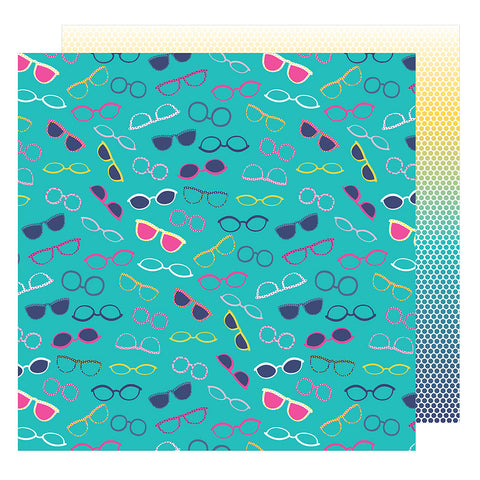 Keep Your Cool 12x12 Pattern Paper - Shimelle - Glitter Girl