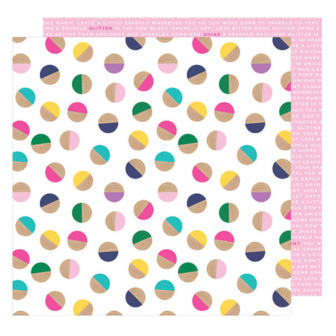 Embrace Chaos 12x12 Pattern Paper - Shimelle - Glitter Girl