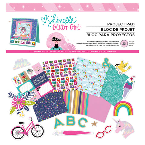 12x12 Project Pad - Shimelle - Glitter Girl