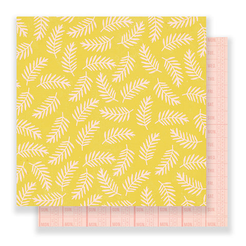 Life Goals 12x12 Pattern Paper - Crate Paper - Good Vibes