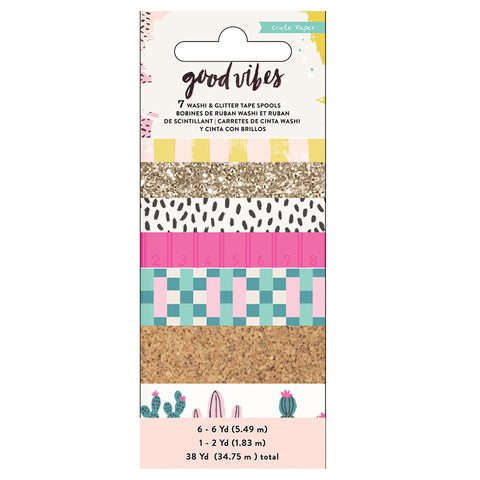 Washi Tape Set - Crate Paper - Good Vibes