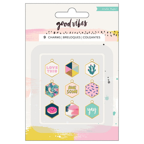 Charm Embellishments - Crate Paper - Good Vibes