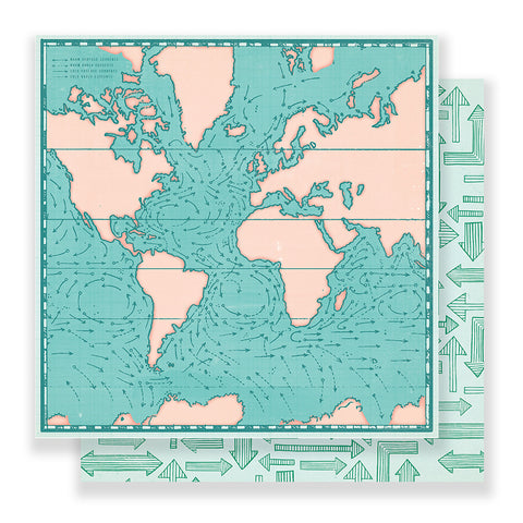Tour Guide 12x12 Pattern Paper - Crate Paper - Here & There