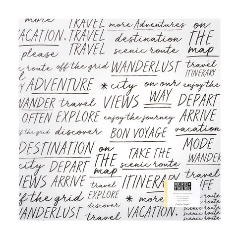 Traveler Specialty 12x12 Vellum Paper - Crate Paper - Here & There