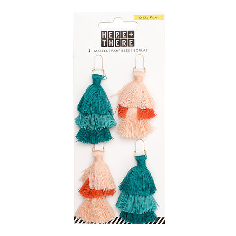 Tiered Tassels - (4 Pieces) - Crate Paper - Here & There