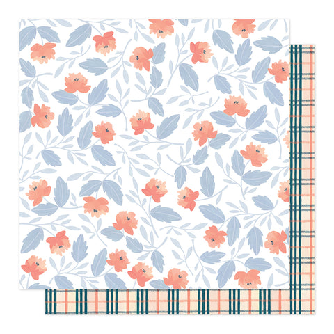 Twilight Blooms 12x12 Pattern Paper - 1Canoe2 - Twilight