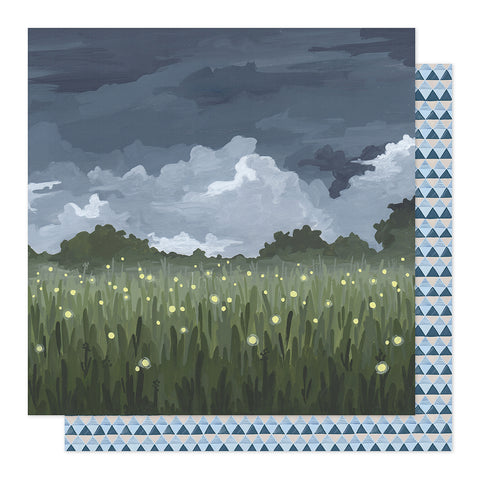 Fireflies in the Garden 12x12 Pattern Paper - 1Canoe2 - Twilight