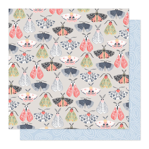 Flight of Moths 12x12 Pattern Paper - 1Canoe2 - Twilight