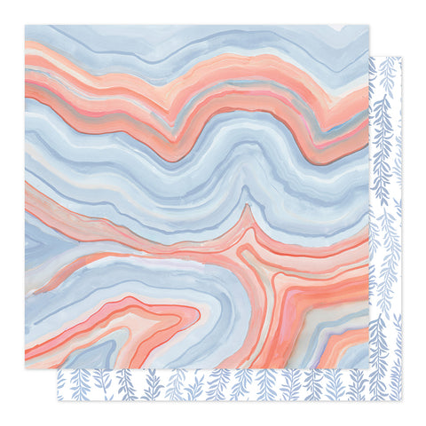Twilight Marble 12x12 Pattern Paper - 1Canoe2 - Twilight