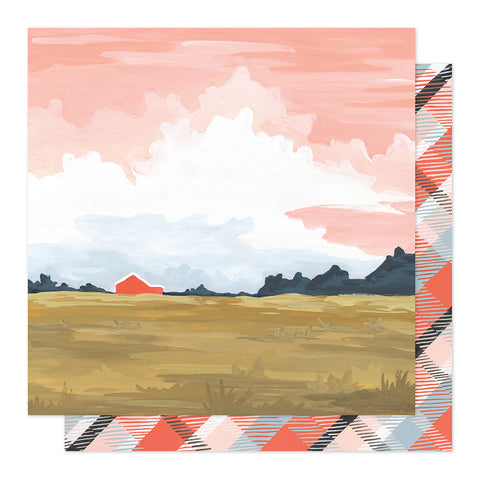 Twilight Landscape 12x12 Pattern Paper - 1Canoe2 - Twilight