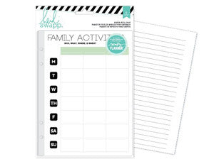 Heidi Swapp Hello Beautiful Memory Planner Refill Pack : Family Activites