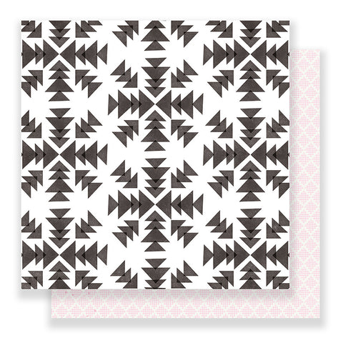 Snowflakes 12x12 Paper - Crate Paper Snow and Cocoa