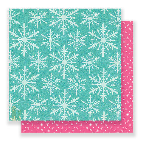 Wonderland 12x12 Paper - Crate Paper Snow and Cocoa