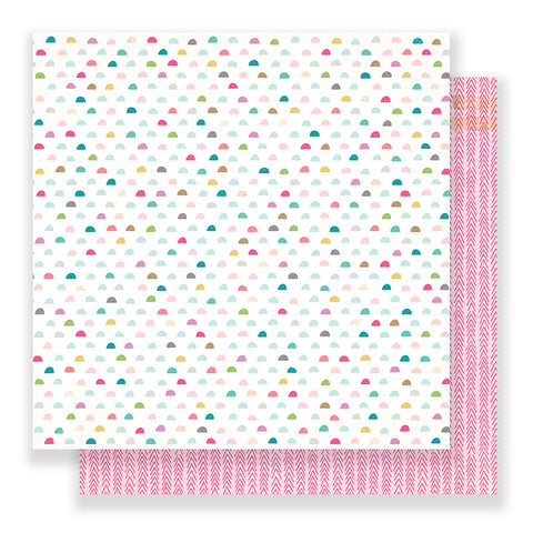 Rosy cheeks 12x12 Paper - Crate Paper Snow and Cocoa