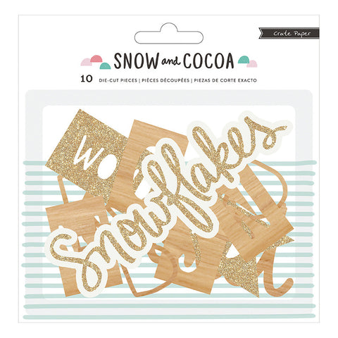 DieCut Phrases - Crate Paper Snow and Cocoa