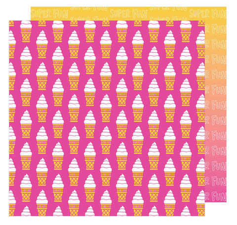 Super Fun 12x12 Patterned Paper - Amy Tangerine - On a Whim