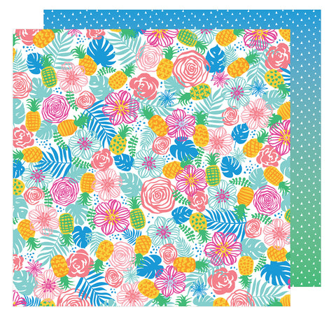 Tropical Paradise 12x12 Patterned Paper - Amy Tangerine - On a Whim