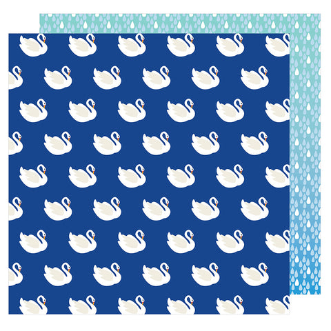 Swan Dive 12x12 Patterned Paper - Amy Tangerine - On a Whim