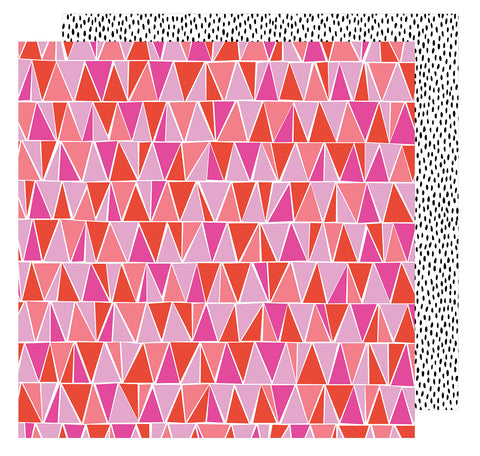 Let's Dance 12x12 Patterned Paper - Amy Tangerine - On a Whim