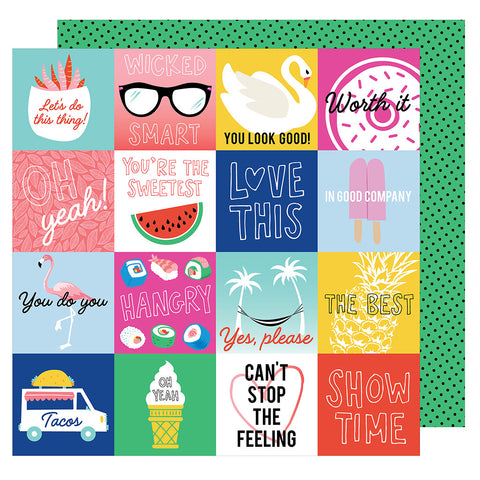 In Good Company 12x12 Patterned Paper - Amy Tangerine - On a Whim