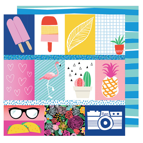 Good Stuff 12x12 Patterned Paper - Amy Tangerine - On a Whim