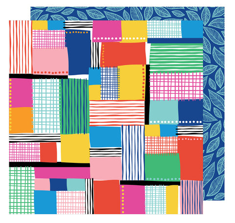 Patchwork 12x12 Patterned Paper - Amy Tangerine - On a Whim