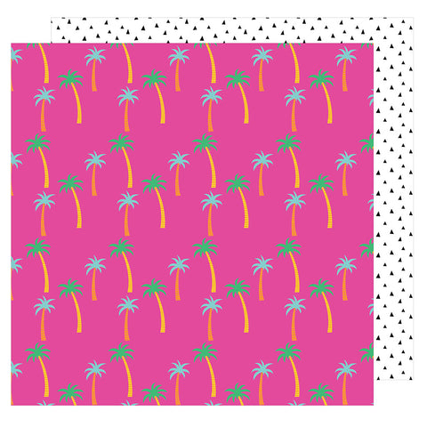 Paradise 12x12 Patterned Paper - Amy Tangerine - On a Whim