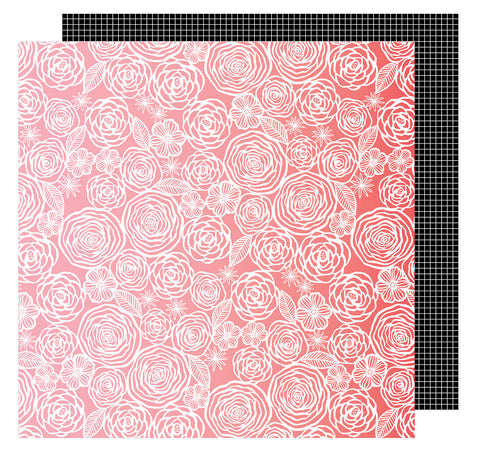 Think Pink 12x12 Patterned Paper - Amy Tangerine - On a Whim