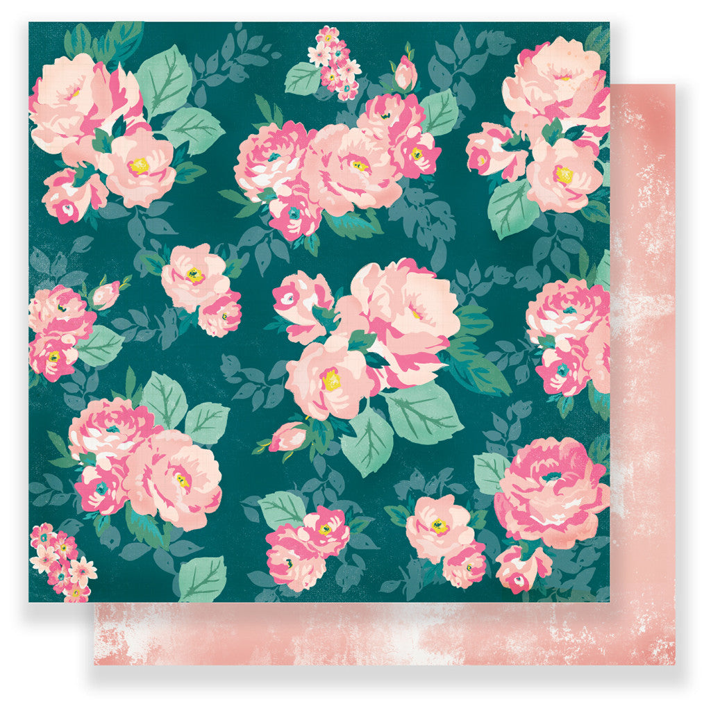Garden Club 12x12 Patterned Paper   Maggie Holmes   Chasing Dreams