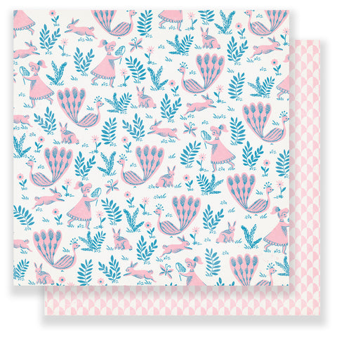 Whimsy 12x12 Patterned Paper - Maggie Holmes - Chasing Dreams