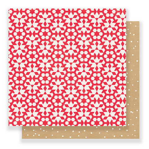 Snowflakes 12x12 Pattern Paper - Crate Paper - Falala