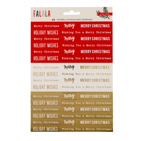 Gold Foil Phrase Stickers - Crate Paper - Falala